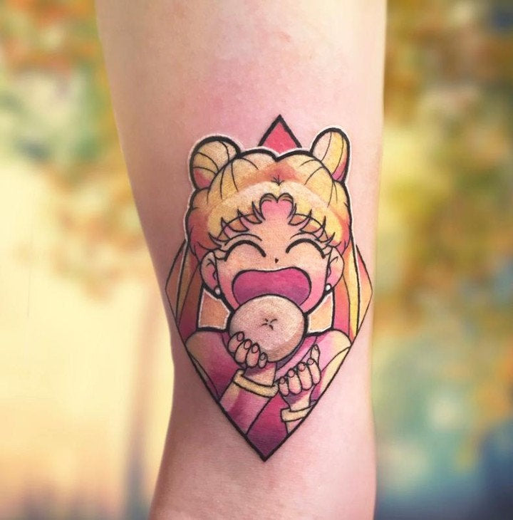 Anime tattoo cartoon design