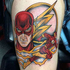 flash symbol tattoo