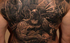 Batman back tattoo