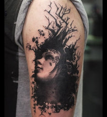 woman tree tattoo