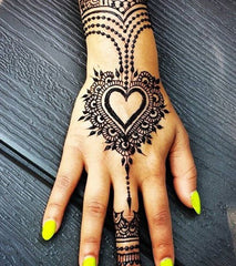 heart design tattoo hand