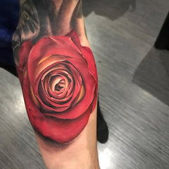 classic rose tattoo
