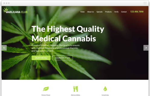 Dispensary Weed Website Designer
