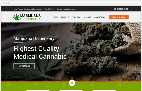 THC Dispensary Weed Website Design