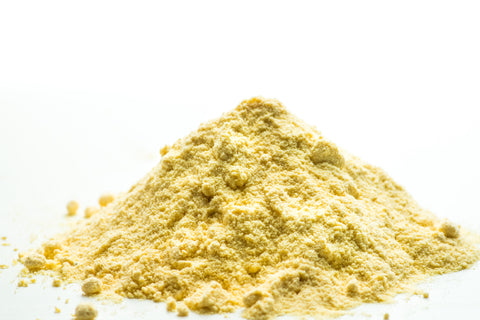 Quercetin powder has a yellow hue to it.