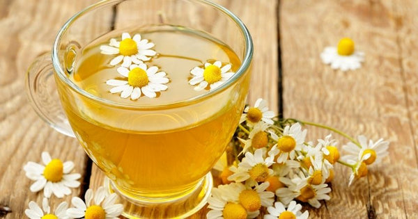 chamomile is a well-known plant for anxiety relief and can be made into a tea