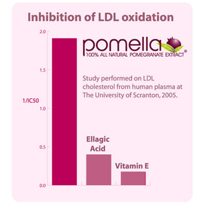Curcumin benefits are magnified by adding Pomella to inhibit LDL oxidation.
