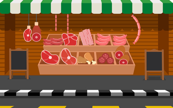 street stand of meat; processed meat is linked to increased dementia risk