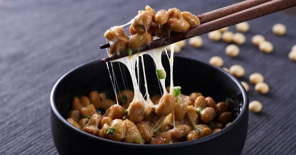 The best food source of vitamin K2 is natto, a Japanese fermented soy food.