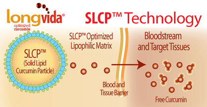 Longvida's SLCP technology boosts curcumin's benefits to your health