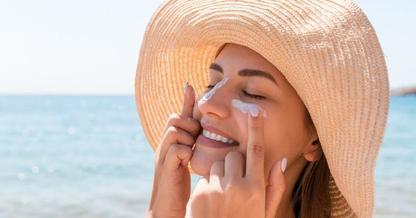 Skin damage from the sun's ultraviolet (UV) rays can lead to wrinkles, dark spots, and other problems such as melanoma, a type of skin cancer considered to be the most dangerous.
