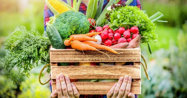 Lots of vegetables and plant foods