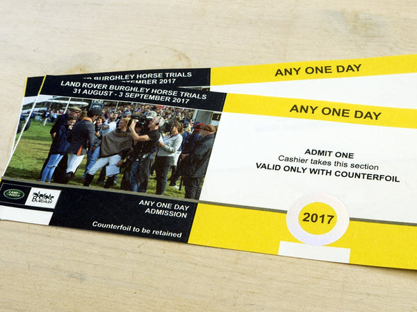 Charley Chau ticket giveaway for the Burghley Horse Trials 2017