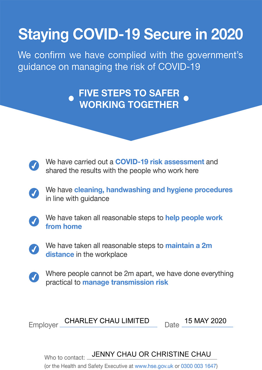 Covid-19 - Workplace Safety Compliance