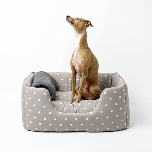 Charley Chau Deeply Dishy Bed in Dotty Dove Grey