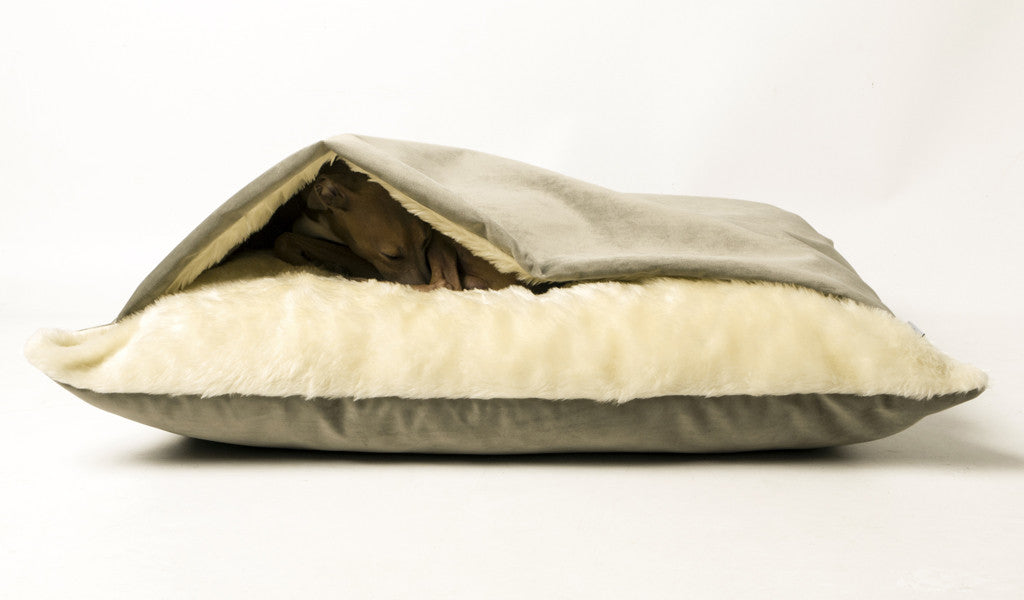 Snuggle Bed in Velour Cloud