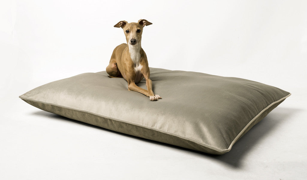 Day Bed Mattress in Velour Cloud & Silver