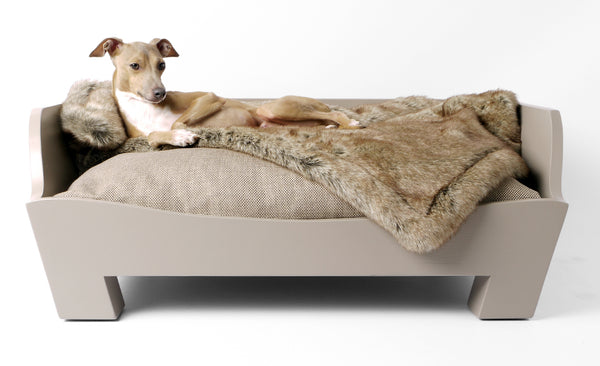 Raised Wooden Dog Bed by Charley Chau