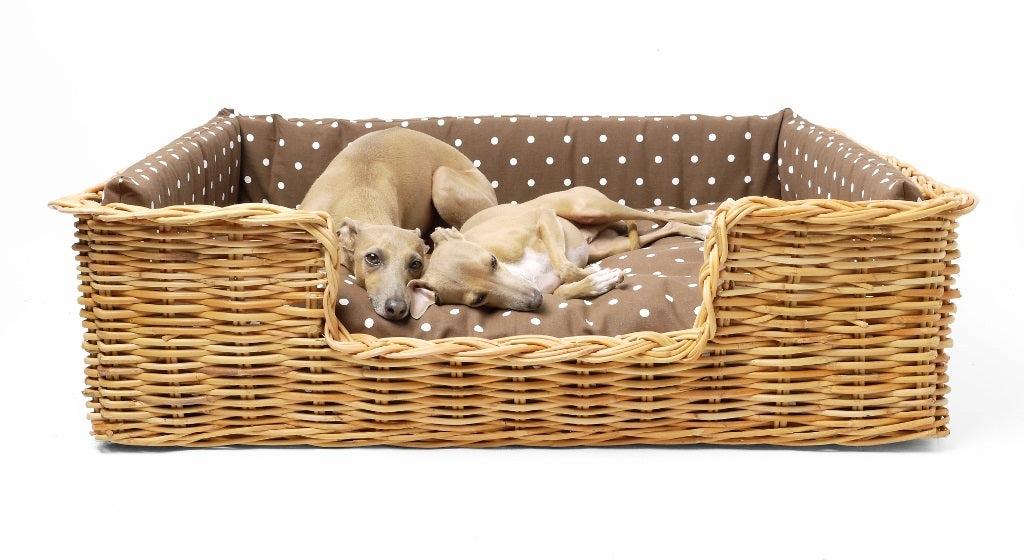 Luxury Rattan Dog Basket by Charley Chau