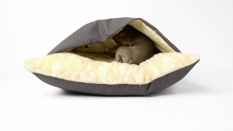Charley Chau Snuggle Bed in Weave Slate