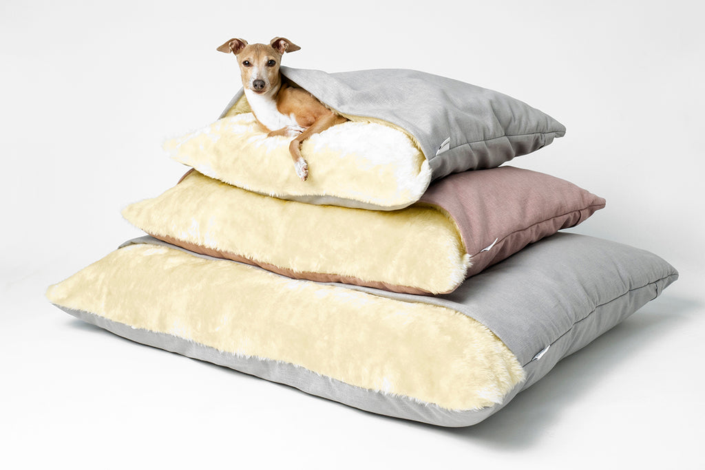 Charley Chau Snuggle Beds in Cosmo in three sizes