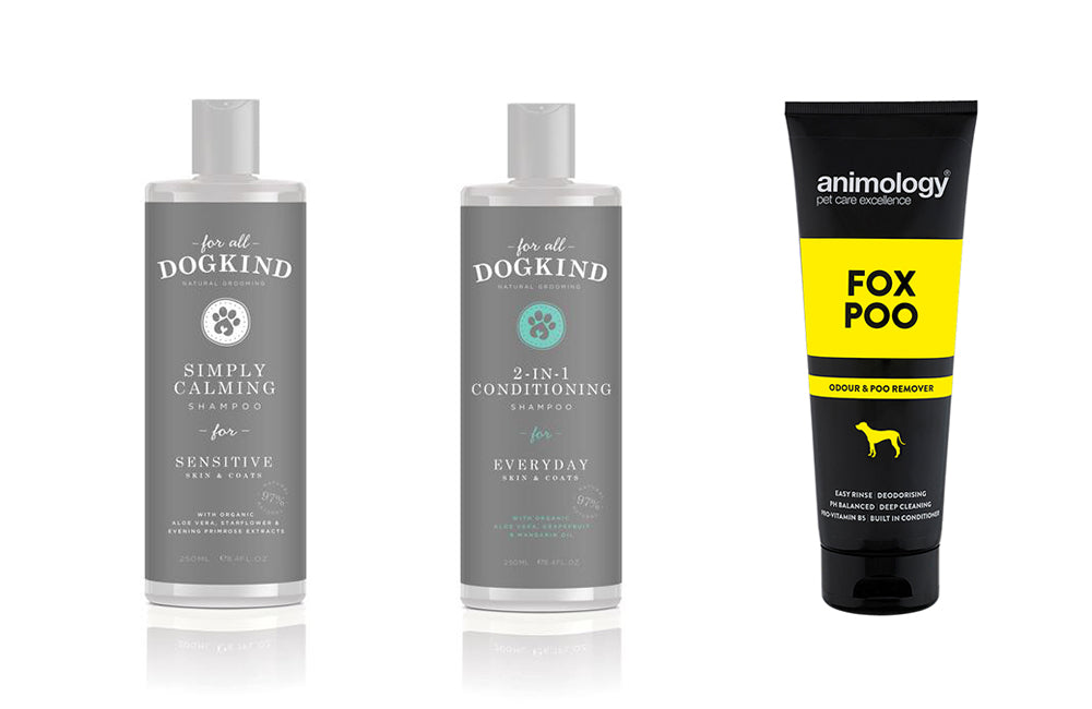 Dog Shampoos in our Emergency Dog Supplies Store