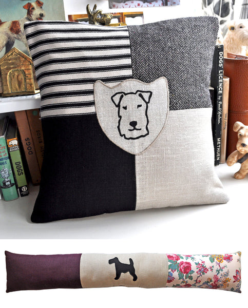 Patchwork Cushion & Draught Excluder by Edwyn UK