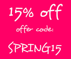 Spring Sale discount code: SPRING15