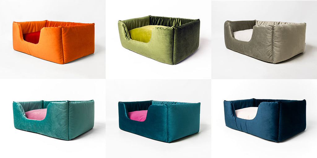 Deeply Dishy Beds in Velour Contrast by Charley Chau