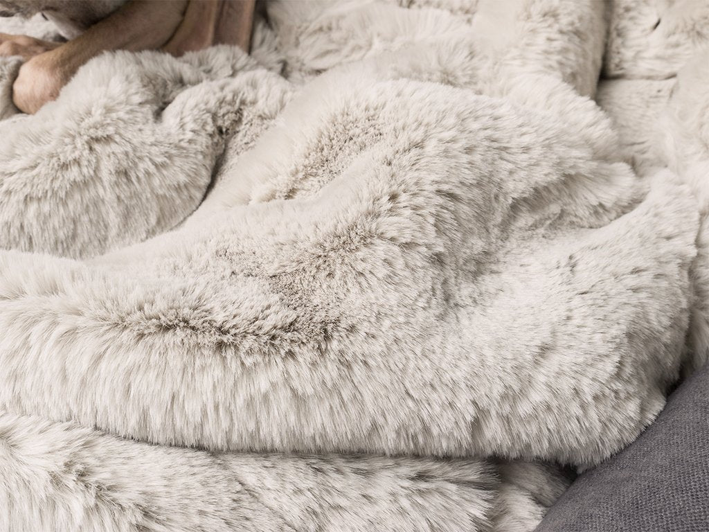 Charley Chau Faux-Fur Dog Blanket in Silver Mink