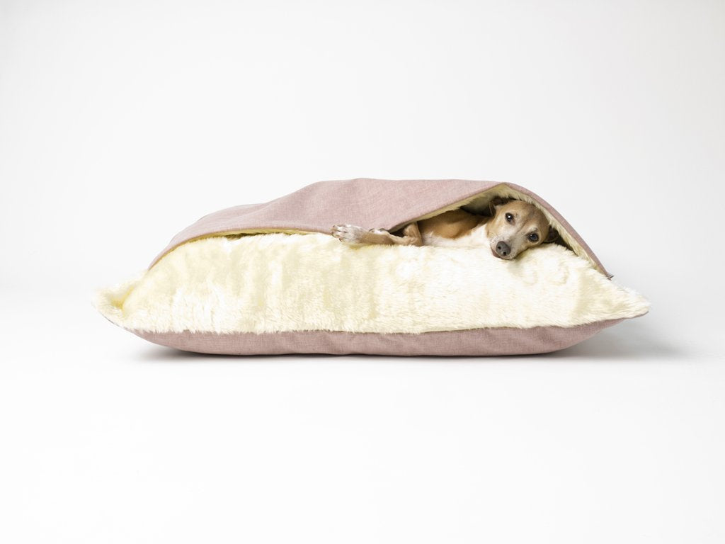 Charley Chau Snuggle Bed for dogs in Cosmo Blush