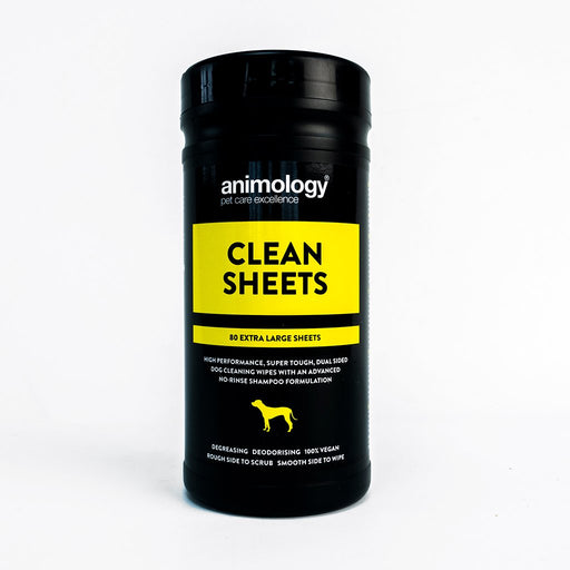 Animology Clean Sheets - 80 Wipes