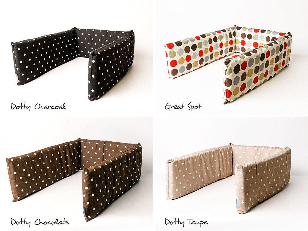 Charley Chau Bed Bumpers available in four fab cotton prints