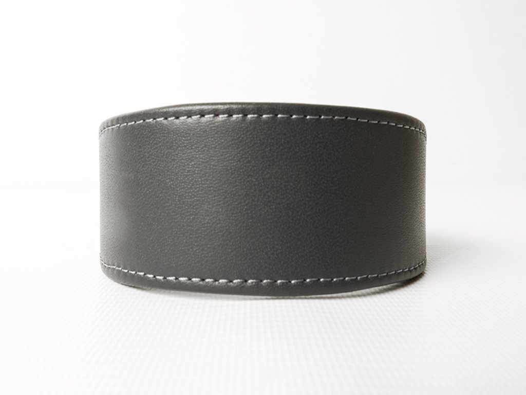 Bespoke Leather Whippet Collar - School Grey