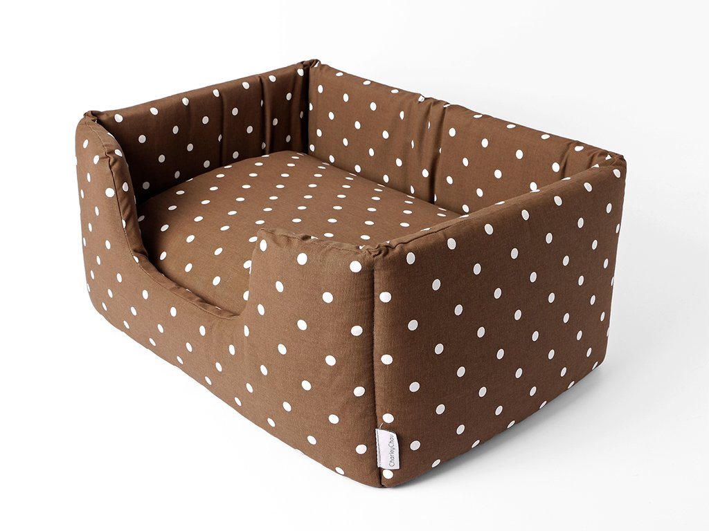 Deeply Dishy Dog Bed in Dotty Chocolate
