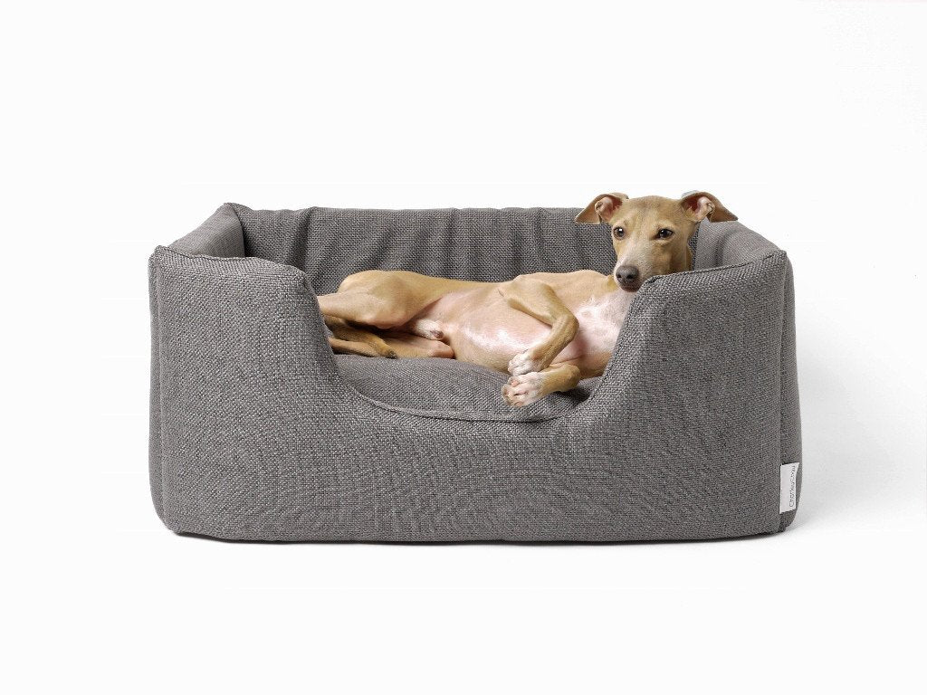 Charley Chau Deeply Dishy Dog Bed in Weave Slate