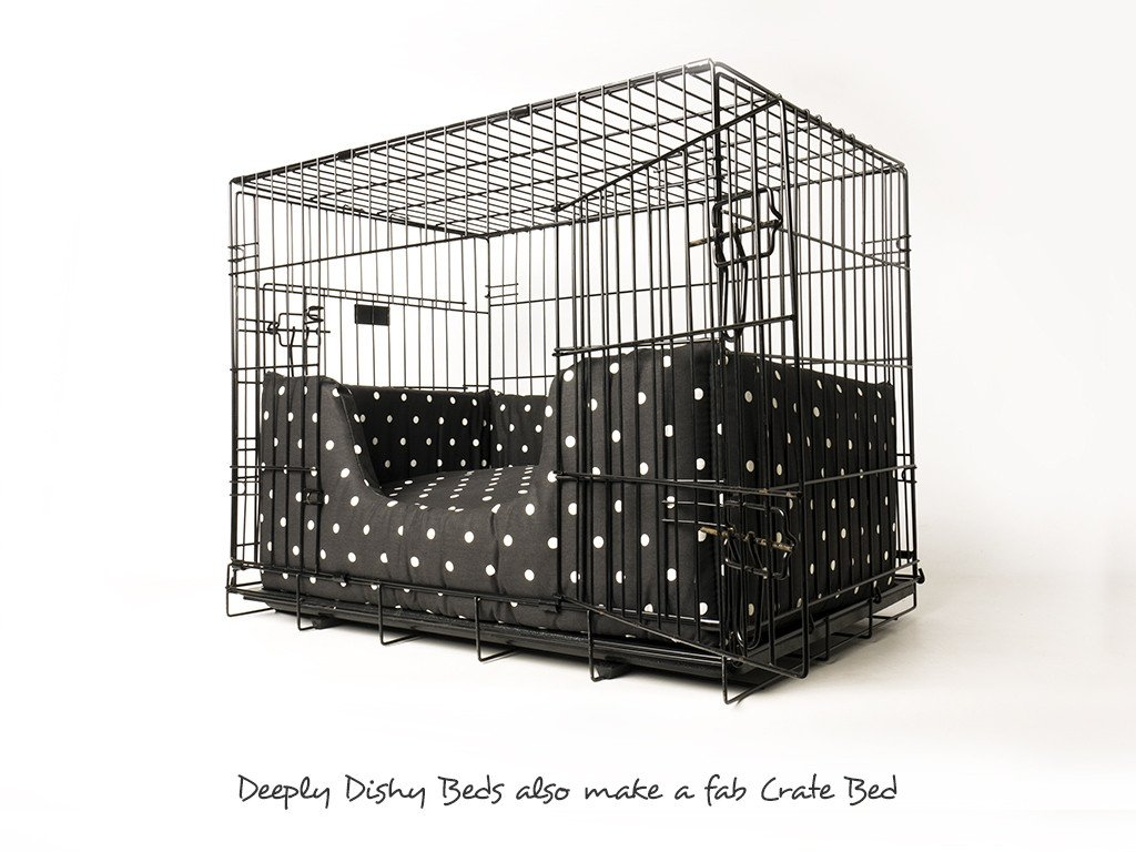 A versatile luxury dog bed that makes a great dog crate bed too!