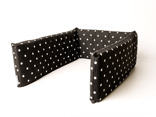Charley Chau Bed Bumpers for dog crates shown here in Dotty Charcoal