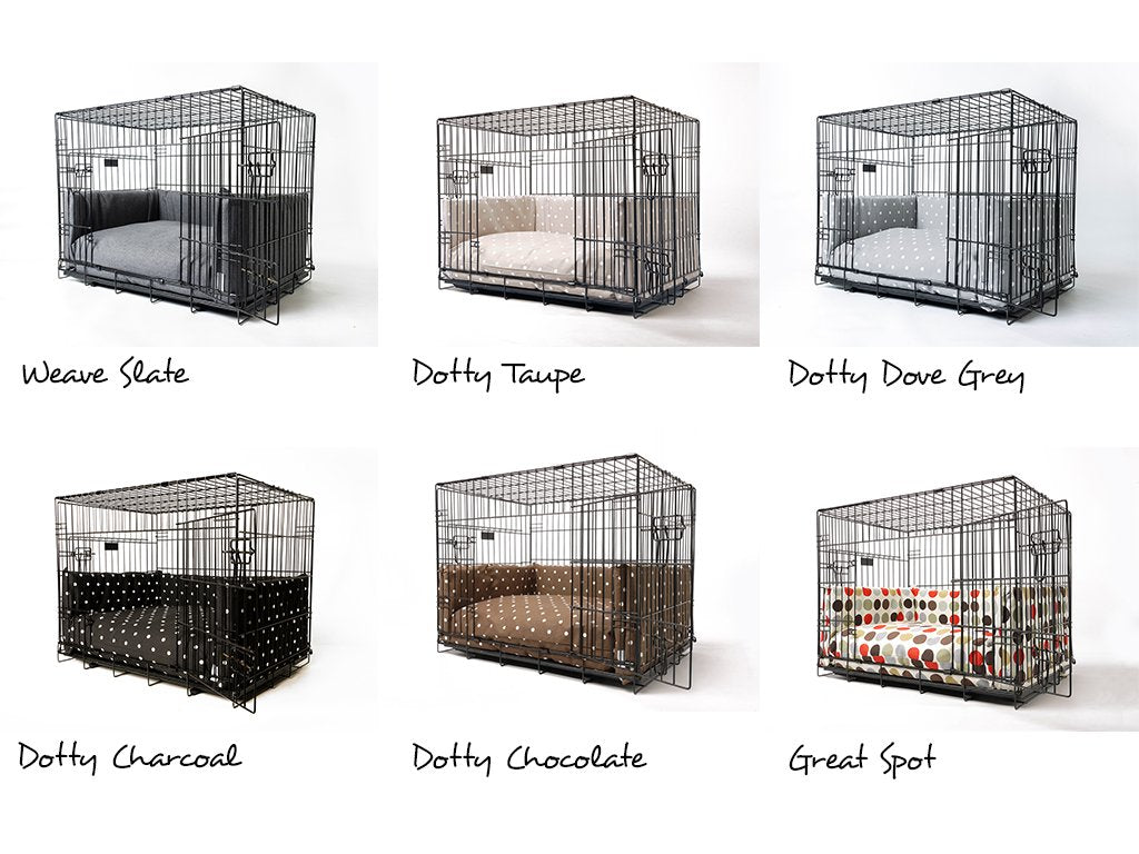 Dog Crate Mattress and Bed Bumper fabric options