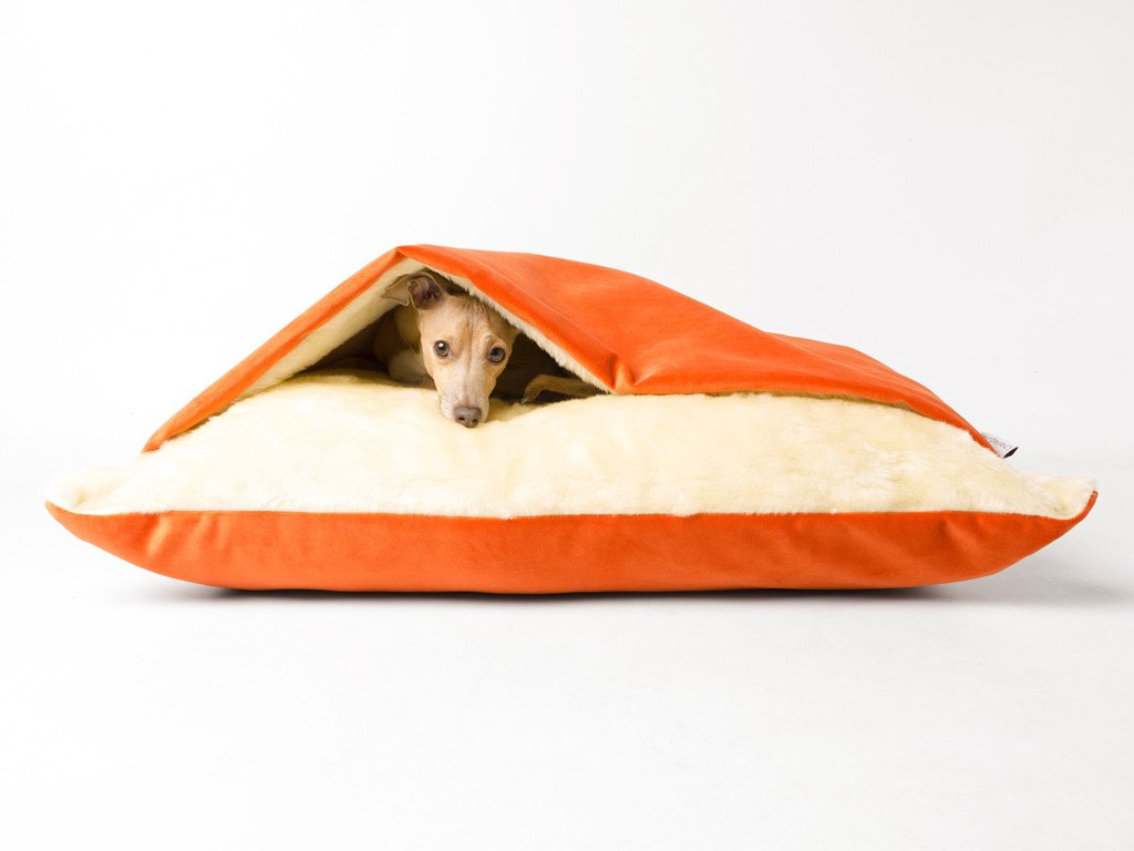 Charley Chau Snuggle Bed in Tangerine