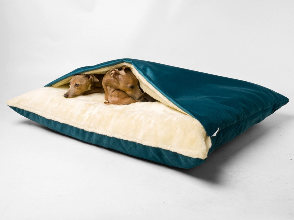 Snuggle Bed shown here in Velour Teal