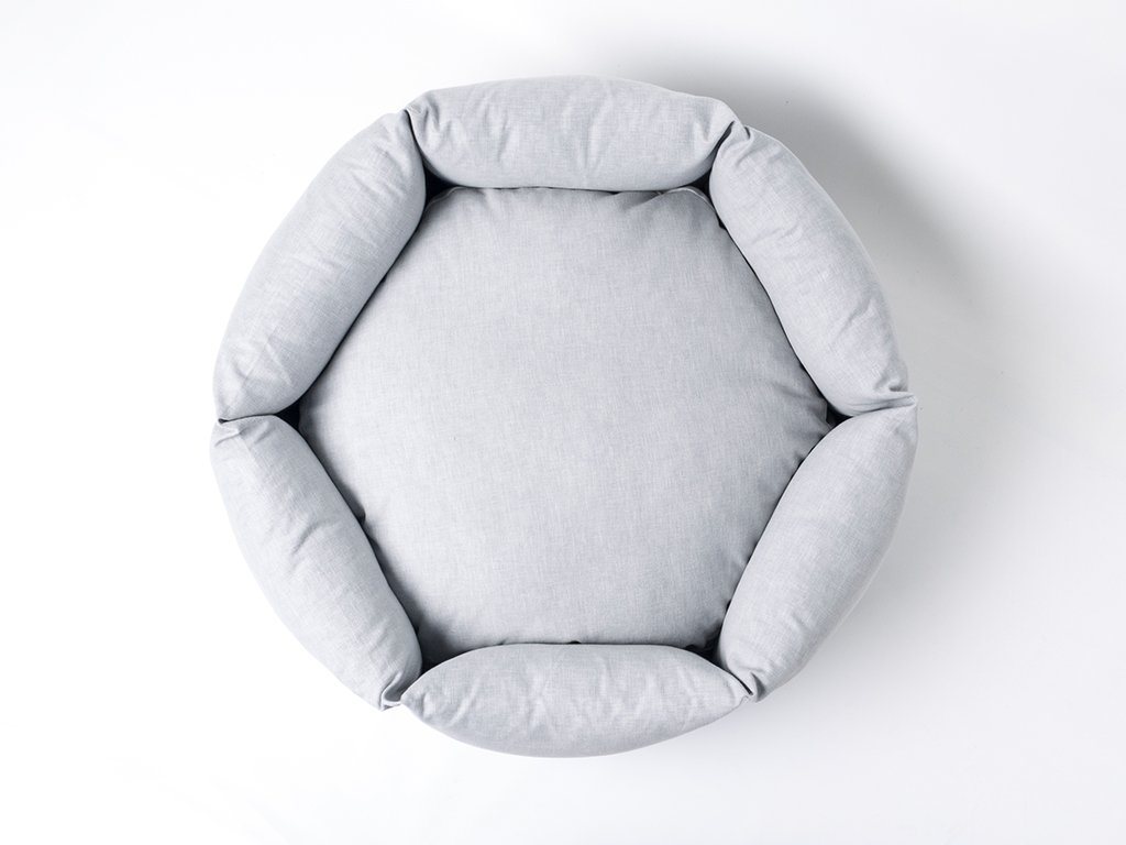 Charley Chau Ducky Donut Dog Bed in China Gray