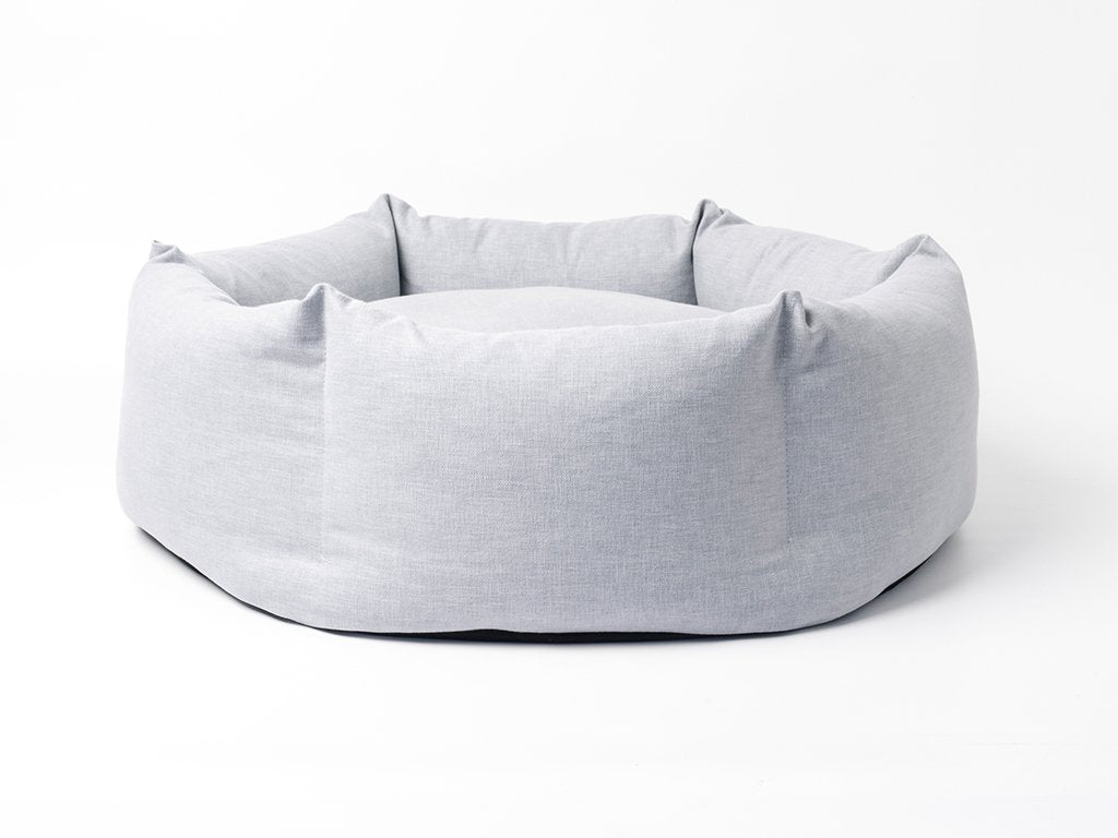Charley Chau deluxe Ducky Donut Dog Bed in China Gray