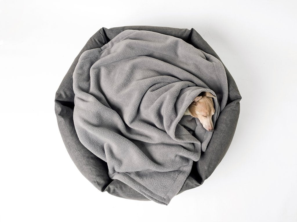 Charley Chau Ducky Donut Dog Bed in Dark Gray