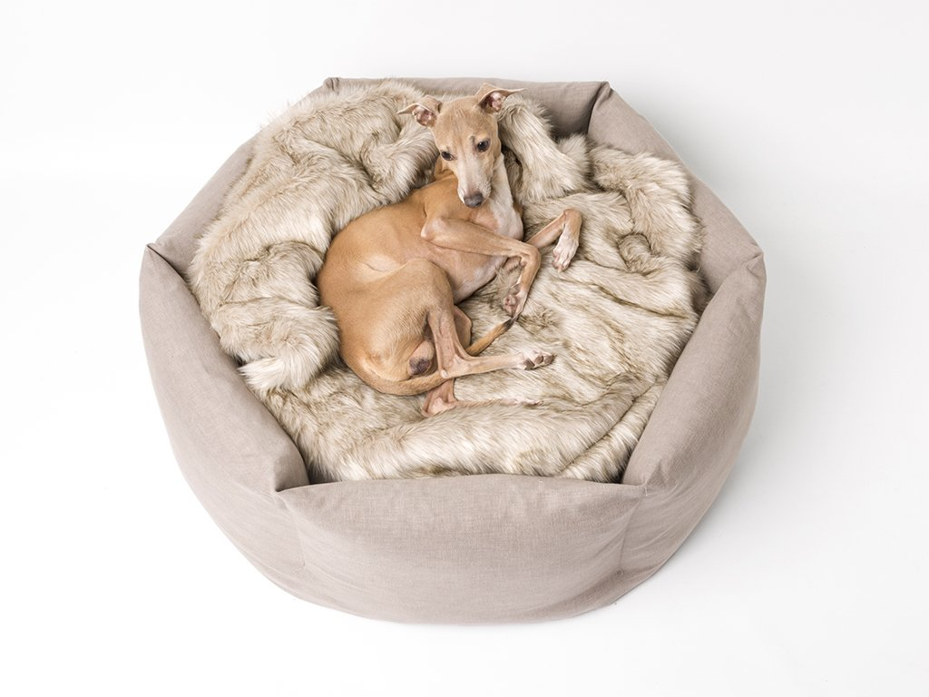 Charley Chau deluxe Ducky Donut Dog Bed in Elephant
