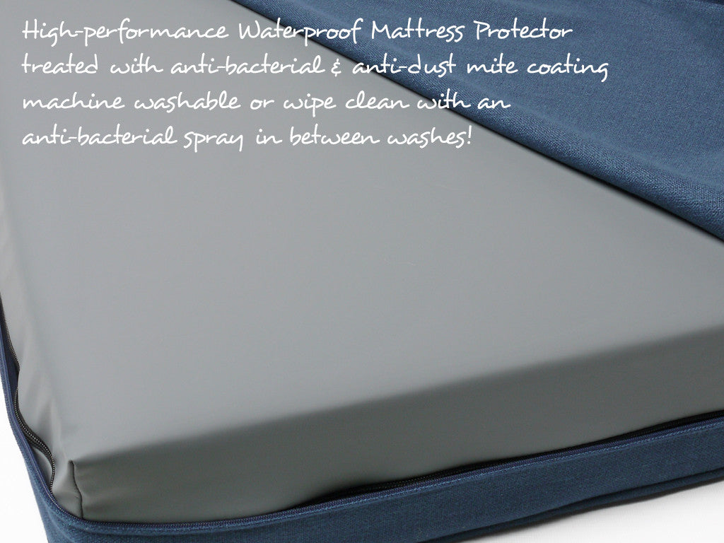 High-performance waterproof mattress protector included