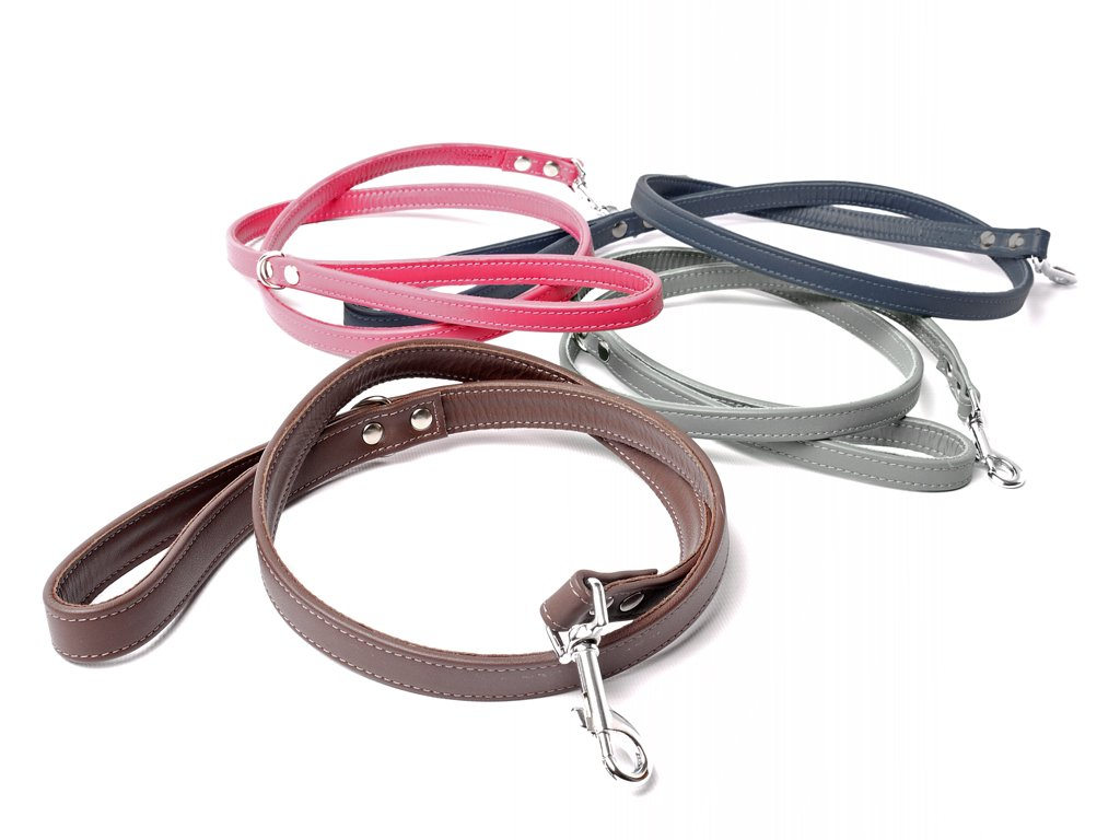 Bespoke Leather Dog Leads - different sizes and colours available