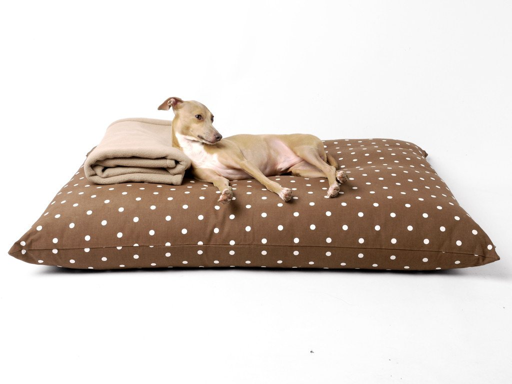 Luxury Dog Bed Mattress - Day Bed in Dotty Chcolate
