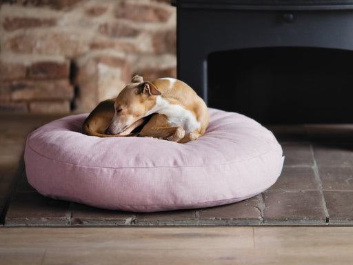 Charley Chau Luxury Round Dog Bed Mattress  - Blush