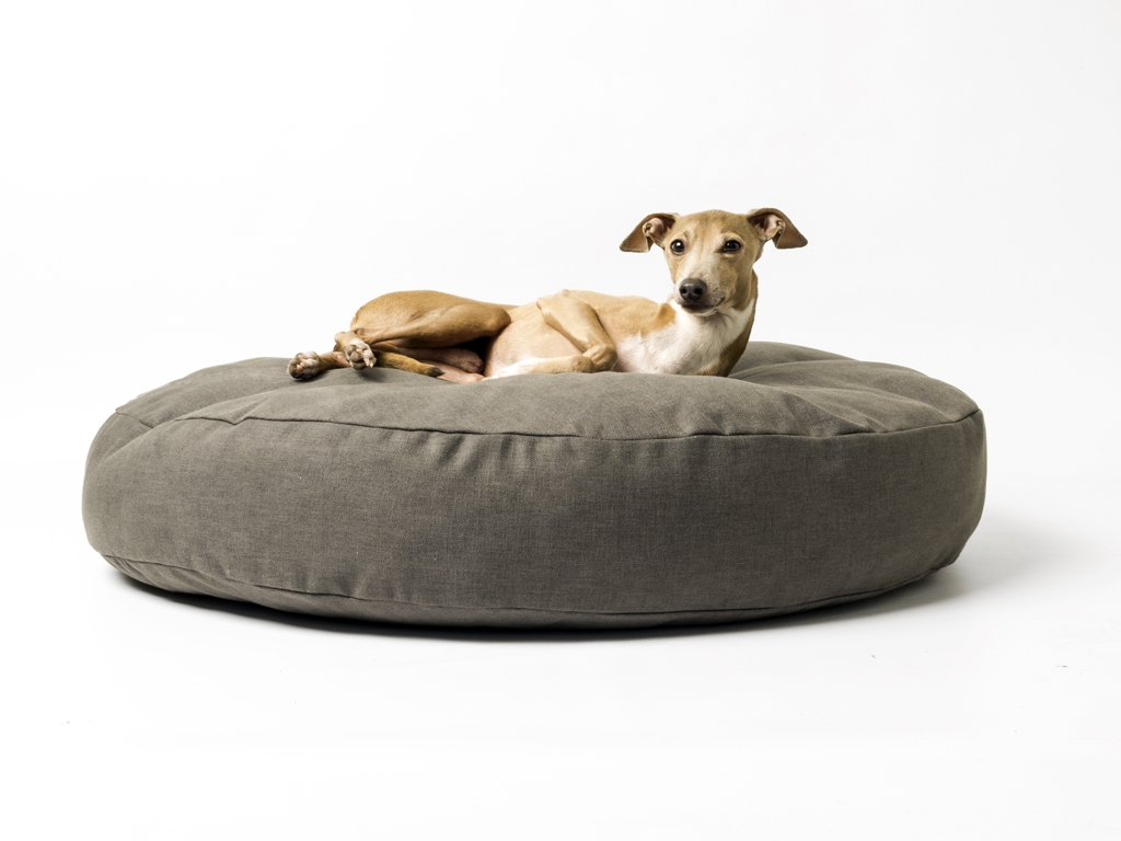 Charley Chau Luxury Round Dog Bed Mattress  - Dark Gray
